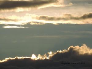 Come l'amplesso del sole e dell'orizzonte al tramonto